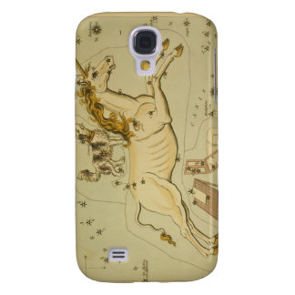 Vintage astronomy astrology Monoceros unicorn Galaxy S4 Case