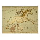 Vintage astronomy astrology Monoceros unicorn Postcard