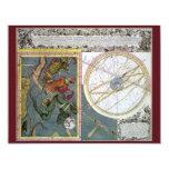 Vintage Astronomy Celestial, Comet of 1742 11 Cm X 14 Cm Invitation Card