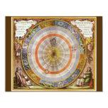 Vintage Astronomy Celestial Copernican Planisphere Personalised Invite