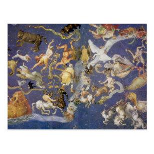 Vintage Astronomy Celestial Fresco, Constellations Postcard
