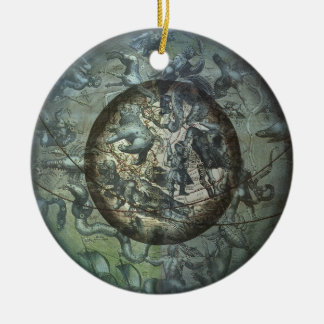 Vintage Astronomy Celestial Northern Constellation Christmas Ornament