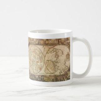 Vintage Astronomy, Celestial Planisphere Map Classic White Coffee Mug