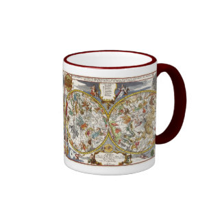 Vintage Astronomy, Celestial Planisphere Map Ringer Coffee Mug