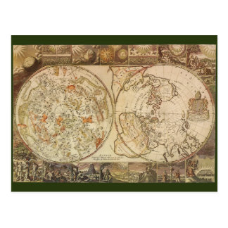 Vintage Astronomy, Celestial Planisphere Map Postcard