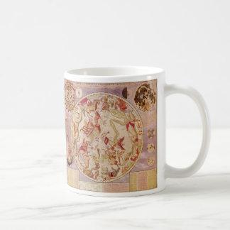 Vintage Astronomy, Celestial Planisphere Star Map Classic White Coffee Mug