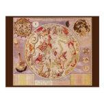 Vintage Astronomy, Celestial Planisphere Star Map Postcards