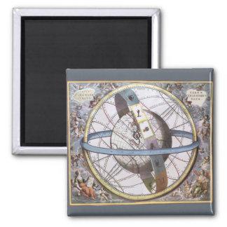 Vintage Astronomy, Celestial Planisphere Zodiac Magnet