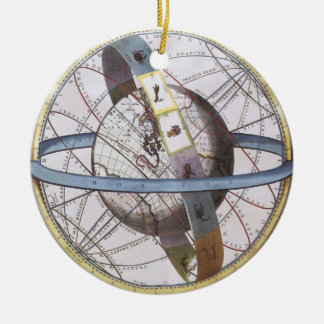 Vintage Astronomy, Celestial Planisphere Zodiac Round Ceramic Decoration