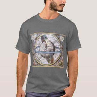 Vintage Astronomy, Celestial Planisphere Zodiac T-Shirt