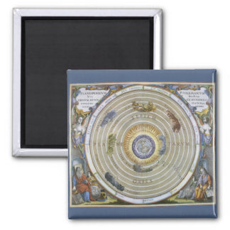 Vintage Astronomy Celestial Ptolemaic Planisphere Square Magnet