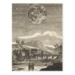 Vintage Astronomy Celestial Renaissance Moon Stars Postcard