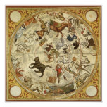 Vintage Astronomy, Celestial Star Chart, Sky Map Custom Invitations