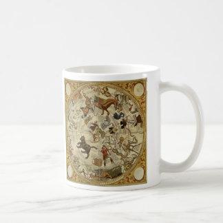 Vintage Astronomy, Celestial Star Chart, Sky Map Classic White Coffee Mug
