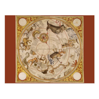 Vintage Astronomy, Celestial Star Planisphere Map Postcard
