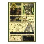 Vintage Astronomy, Celestial Stars, Stella Magorum 13 Cm X 18 Cm Invitation Card