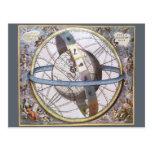 Vintage Astronomy, Celestial Zodiac Planisphere Postcard