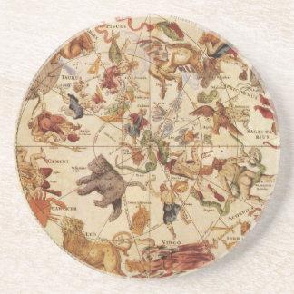 Vintage Astronomy Constellations, Frederik de Wit Beverage Coaster