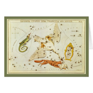 Vintage Astronomy, Constellations Stars Chart Map Greeting Card