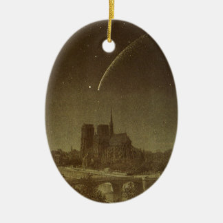 Vintage Astronomy, Donati Comet over Paris, 1858 Christmas Ornament