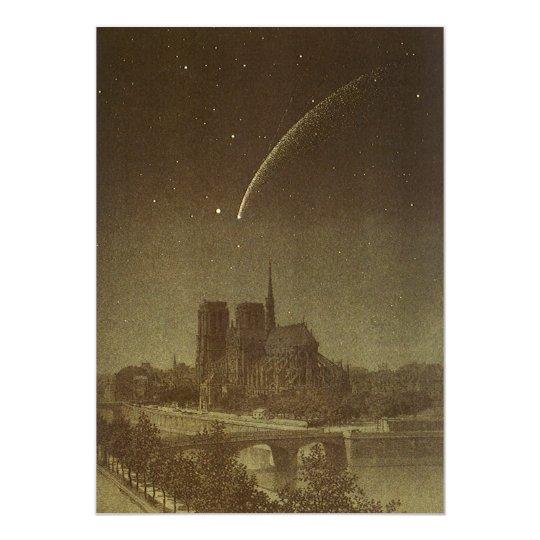 Vintage Astronomy, Donati Comet Paris Invitation