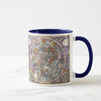 Vintage Astronomy, Map of Christian Constellations Mug