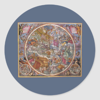 Vintage Astronomy, Map of Christian Constellations Sticker
