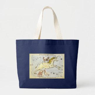Vintage Astronomy, Monoceros Unicorn Constellation Jumbo Tote Bag