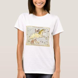 Vintage Astronomy, Monoceros Unicorn Constellation T-Shirt