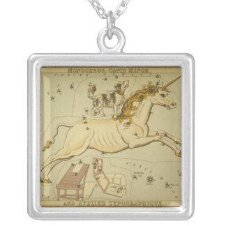 Vintage astronomy necklace Monoceros unicorn