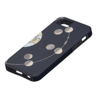 Vintage Astronomy, Phases of the Moon with Earth iPhone 5 Cases