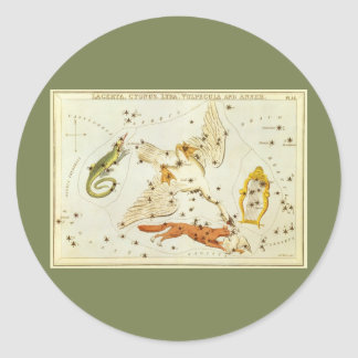 Vintage Astronomy, Star Chart, Constellations Map Classic Round Sticker