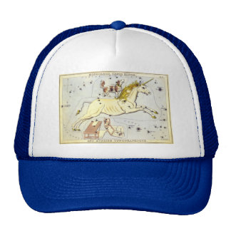 Vintage Astronomy, Unicorn Monoceros Constellation Cap