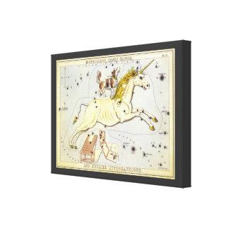Vintage Astronomy, Unicorn Monoceros Constellation Gallery Wrap Canvas