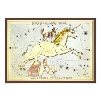 Vintage Astronomy, Unicorn Monoceros Constellation Invites