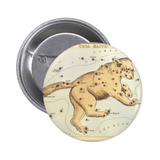 Vintage Astronomy, Ursa Major Constellation, Bear 6 Cm Round Badge