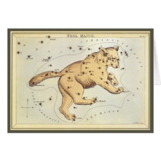 Vintage Astronomy, Ursa Major Constellation, Bear Greeting Card