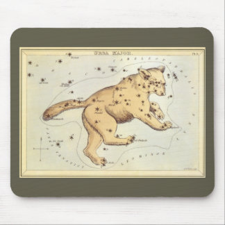 Vintage Astronomy, Ursa Major Constellation, Bear Mouse Pad