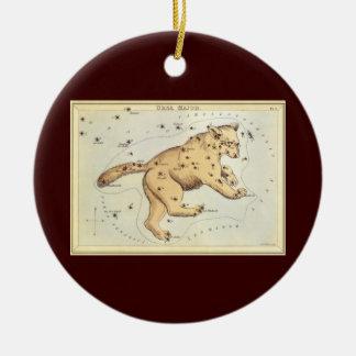 Vintage Astronomy, Ursa Major Constellation, Bear Round Ceramic Decoration