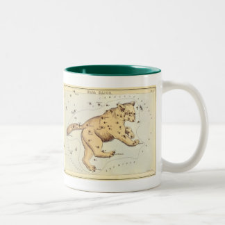 Vintage Astronomy, Ursa Major Constellation, Bear Two-Tone Coffee Mug