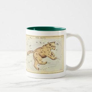 Vintage Astronomy, Ursa Major Constellation, Bear Two-Tone Coffee Mug