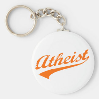 Vintage Atheist Basic Round Button Key Ring
