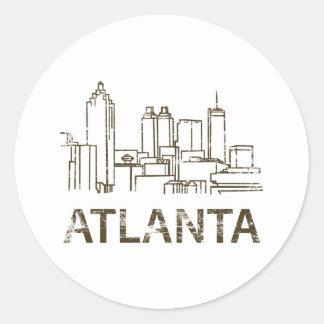 Vintage Atlanta Classic Round Sticker