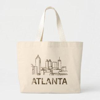 Vintage Atlanta Jumbo Tote Bag
