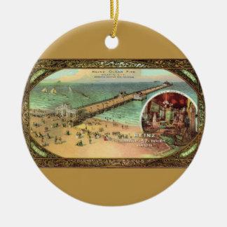 Vintage Atlantic City Pier Christmas Ornament