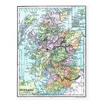 Vintage Atlas Map - Scotland Postcard