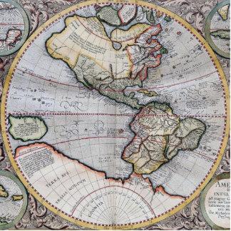 Vintage Atlas World Map Photo Sculpture Magnet