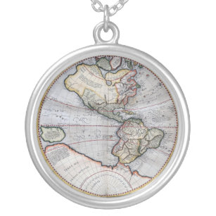 World map necklaces lockets zazzle vintage atlas world map silver plated necklace freerunsca Gallery