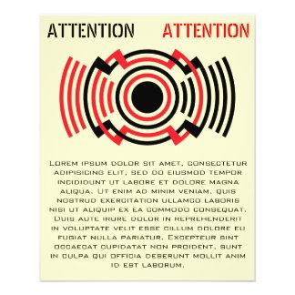 vintage attention message template 11.5 cm x 14 cm flyer