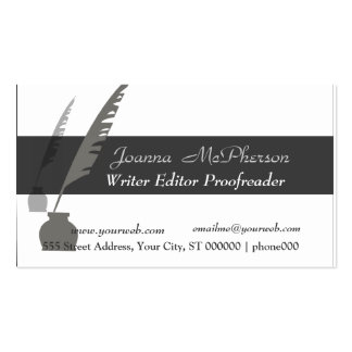 Vintage Attorney  Editor Writer Pack Of Standard Business Cards